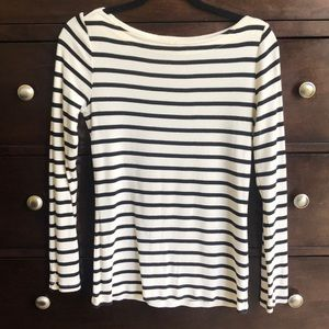 Gap Striped Boatneck Shirt